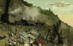 Panama – An Accident, Wreck of large steam-shovel at Bas Obispo