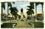 Panama – Statue of Columbus, Presented by Empress Eugenie of France to the town on Colon, Rep. of Panama