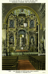 Panama – The Golden Altar in San Jose Church, Avenue A, Panama City