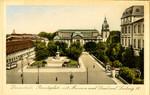Darmstadt – Paradeplatz mit Museum und Denkmal Ludwig IV