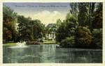 Wiesbaden – Partie am Weiher mit Blick auf Theater