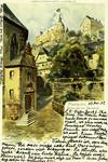 Marburg – Blick nach dem Schloss