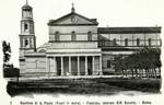 Italy – Rome – Basilica di San Paolo (Fuori le Mura) – Facciata Laterale (XIX Secolo)