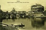 Italy – Rome – Castel Sant'Angelo e Cupola di San Pietro visto dal Tevere