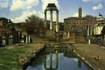 Italy – Rome – Casa delle Vestali e Tempio di Castore e Polluce nel Foro Romano