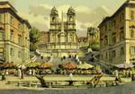 Rome – Spain Square,  Trinità dei Monti's Church