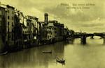 Italy – Florence – Una Veduta dell'Arno col Ponte Santa Trìnita