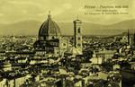Italy – Florence – Panorama della Città Visto dalla Cuspide del Campanile di Santa Maria Novella