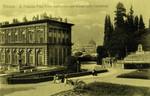Italy – Florence – R. Palazzo Pitti – Parte Posteriore con Veduta della Cattedrale