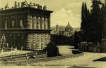 Italy – Florence – Palazzo Pitti – Parte Posteriore con veduta della Cattedrale