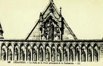 Chartres - La Faîte de la Porte principale de la Cathédrale