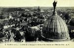 Tours - Le Dôme de la Basilique St-Martin et Vue Générale sur l'Hôtel-de-Ville