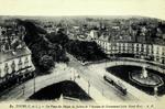 Tours - La Place du Palais de Justice et l'Avenue de Grammont