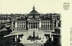 Berlin – Reichstagsgeäude mit Bismark-Denkmal