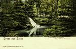 Berlin – Louisenstein mit kleinem Wasserfall im Thiergarten