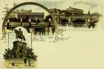 Berlin – Frierichsbrücke und Nationalgallerie – Denkmal Friedrich Wilhelm III
