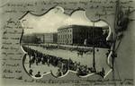 Berlin Unser Kaiser an der Spitze der Fahnen compagnie