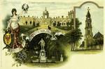 Potsdam – Schloss mit Schlosswache - Standbild Friedrich Wilhelm 1 im Lustgarten - Garnison-kirche