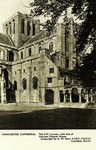 Winchester – Winchester Cathedral – The S.W. Corner, with Site of Norman Chapter House