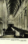 Winchester – Winchester Cathedral – The Nave, looking West