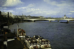 England – London – View of the Thames Embankment and Cleopatra's Needle Looking towards Waterloo Bridge