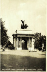 England – London – Wellington Arch and Entrance to Green Park