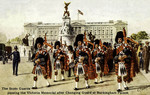 England – London – The Scots Guards Passing the Victoria Memorial after Changing Guard at Buckingham Palace