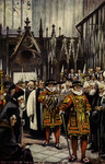 England – London – The Yeomen of the Guard at Westminster Abbey