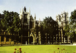 England – London – Westminster Abbey from Parliament Square