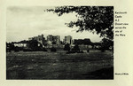 England – Kenilworth – Kenilworth Castle – Distant View across the Site of the Mere