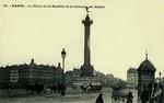 Paris - La Place de la Bastille et la Colonne de Julliet