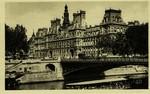 Paris - L'Hôtel de Ville et le Pont d'Arcole