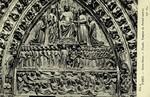 Paris - Notre Dame - Façade, Tympan du Portail central