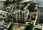 Paris - Vue aérienne. Notre-Dame de Paris