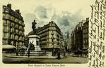 Paris - Place Maubert et Statue Étienne Dolet