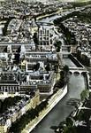 Paris - Vue aèrienne - La Seine, rive gauche de l'Ile de la Cité