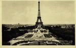 Paris - Les Jardins du Trocadéro, Le Pont d'Iéna sur la Seine et la Tour Eiffel