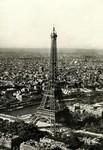Paris - Vue aérienne de la Tour Eiffel, la Seine et l'Arc de Triomphe de l'Etoile