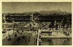 Paris - Vue générale de la Place de la Concorde et la butte Montmartre