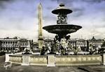 Paris - Place de la Concorde, l'Obélisque, vers l'Eglise de la Madeleine