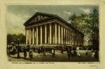 Paris - l'Eglise de la Madeleine et le Marché aux Fleurs