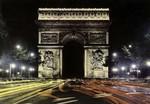 Paris - L'Arc de Triomphe de l'Étoile la nuit