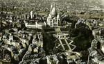 Paris - La colline de Montmartre, avec la basilique du Sacré-Cœur et son Funiculaire