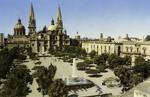 Mexico – Guadalajara – Plaza de la Liberación – El trasero de la Cátedral – Museo y Palacio de Justicia