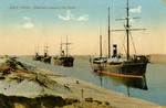 Egypt – Suez Canal, Steamers passing the Canal