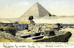 Egypt – Cairo – Temple Chafra Sphinx et Pyramide Cheops