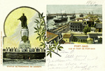 Egypt –  Port Said, Vue et de Port-Said - Statue de Ferdinand de Lesseps