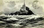Mont Saint-Michel - Grande Marée par un Jour de Tempéte