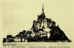 Mont St-Michel - Vue générale (Côté Nord-Est)