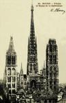 Rouen - Flèche et Tours de la Cathèdrale